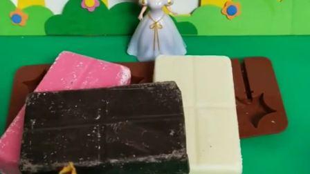 白雪公主玩具:王后要白雪公主做巧克力棒棒糖,贝尔来帮忙了
