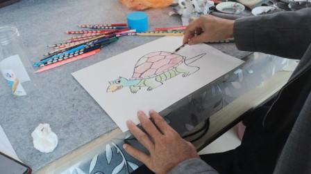 画一只可爱小乌龟
