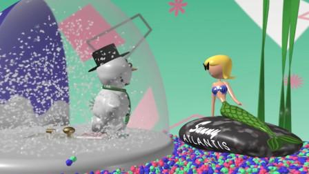 雪人被困玻璃球中,为追求美女而疯狂砸玻璃,最后结局却让人无语