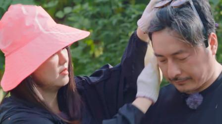王岳伦高温下主动承担挖芋头任务,谁注意李湘的反应?恩爱装不出