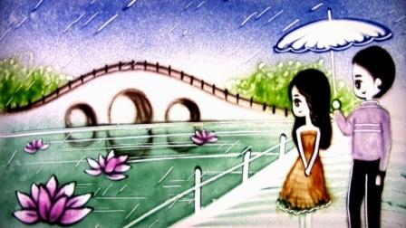 郑源的《包容》经典好听,悲伤的歌词,原来爱情也会变老!沙画