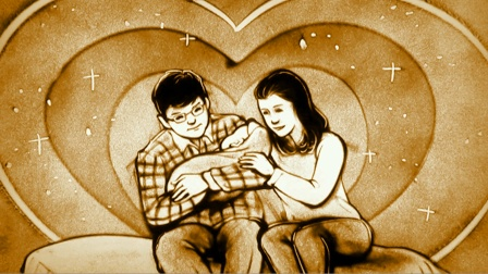 沙画:一首《要爱就爱一辈子》句句唱到心坎里,两口子,一辈子!
