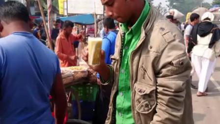 青红甘蔗,街头的这种吃法,吃货的你挑战过几个呢?