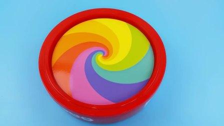 儿童趣味水果旋转陀螺,多种玩法,亲子互动玩具