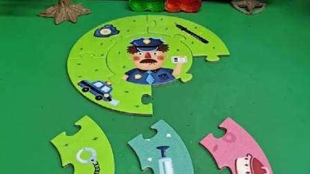 警察要出去执行任务,却总拿错东西,警察今天这是怎么了呀?