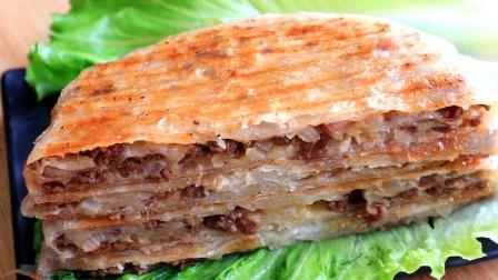 懒人牛肉饼,不揉面不发面,皮薄馅大,牛肉香嫩,当早餐真好吃