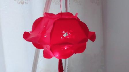 会亮的红灯笼好漂亮,简单几张纸在家DIY,中秋节手工