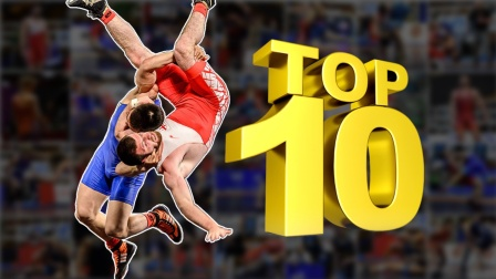 世界摔跤比赛10大经典镜头,精彩绝伦的技术,脖子都快摔断了!