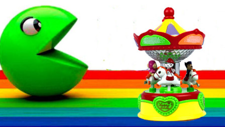 小猪佩奇和汪汪队旋转木马玩具