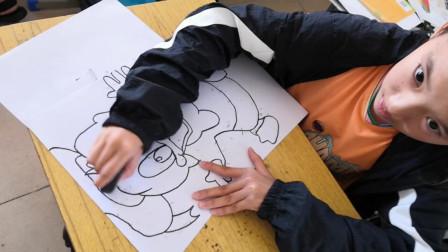 儋州市第二中学初一(5)班美术课学习剪影