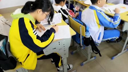 儋州市第二中学初一(3)班美术课学习剪影