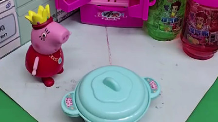猪爸爸藏在锅里的钱,被猪妈妈发现了,猪爸爸能躲到哪去呢?