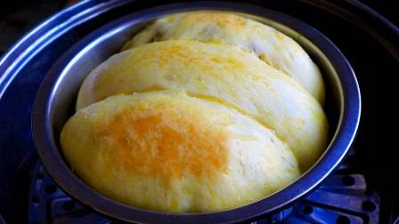 蒸面包的做法,不用烤箱,靠谱有用,柔软拉丝,当早餐营养好吃