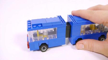 积木拼装巴士汽车