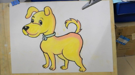 画一只可爱小黄狗