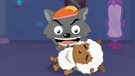 动漫:沸羊羊晕倒了,灰太狼怀疑它装的