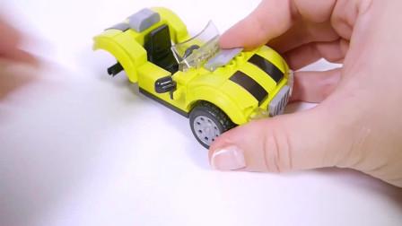 积木跑车玩具