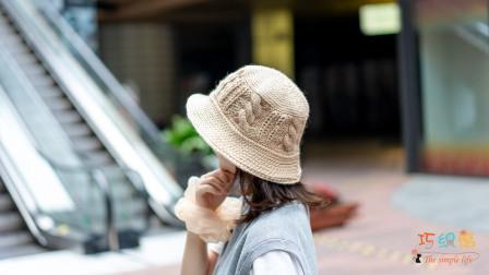 [313]巧织馆-麻花渔夫帽