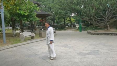 杨乃景于2020年10月29日在龍港市龍翔公园晨练48式太极拳。
