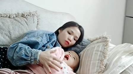 媳妇在哄孩子睡觉唱歌,我在旁边听的心惊胆战不敢出声!