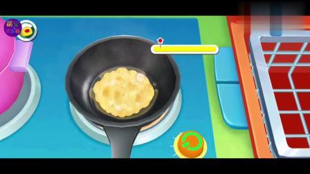 宝宝巴士之奇妙料理餐厅手机小游戏,鸡蛋熟了之后变得好大