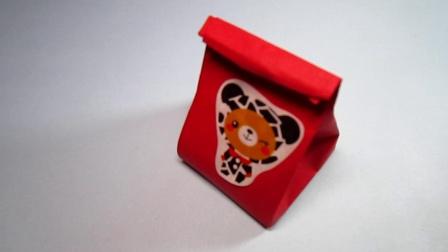 手工折纸纸袋,礼品袋的折法,简单易学