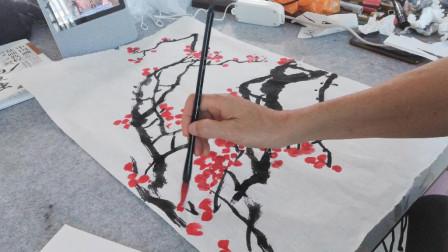 画红梅花练习之三