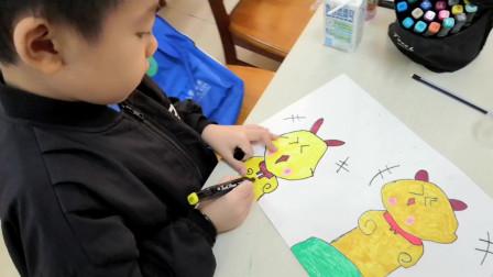 儋州市文化馆公益卡通画班学习作业展示