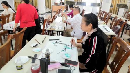 儋州市文化馆公益成人国画班学习剪影