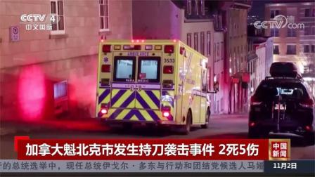 加拿大魁北克市发生持刀袭击事件 2死5伤