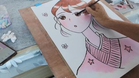 画一个漫画女孩