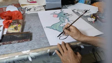 画一只漫画米老鼠