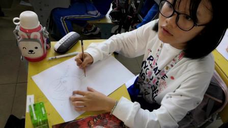 儋州市第二中学初一(3)班卡通画作业展示