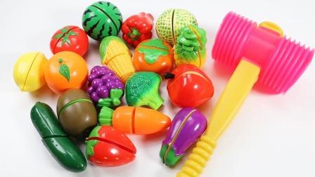 亲子早教益智启蒙游戏:通过拼接玩具水果蔬菜学英语!