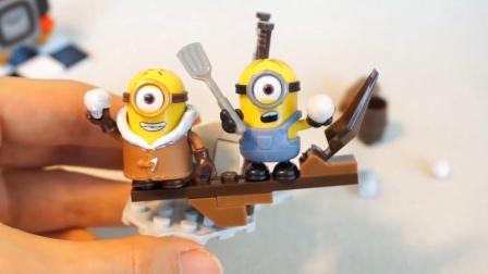 迷你特工队喜欢积木玩具,这次的小黄人积木带两个小黄人!