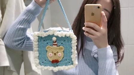 LYG手作 上集 【原创】公主风圣诞小熊手提包新手钩针编织教程