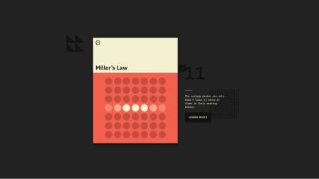 【设计理论】一听就懂的用户体验设计法则