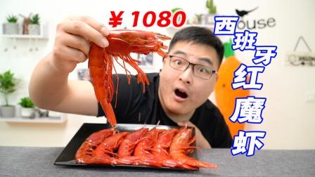 试吃1080元的西班牙红魔虾,顶级刺身食材!一口下去鲜掉眉毛