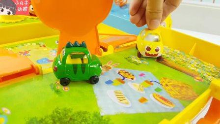 警车救护车消防车变形金刚 小汽车玩具转盘站台