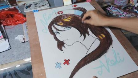 画一个可爱的护士