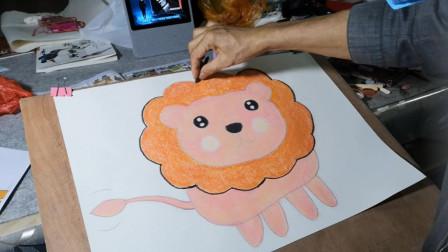画一只可爱的大狮子