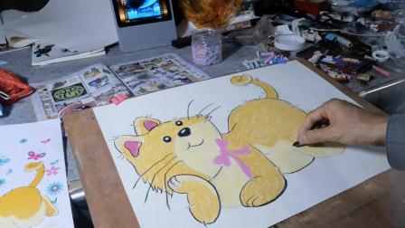 画一只可爱的大猫