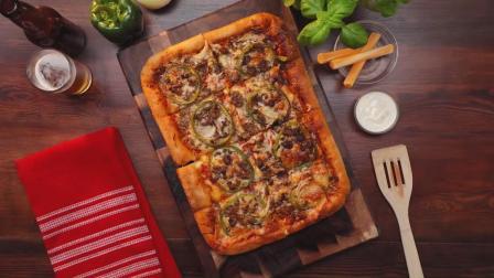 教你做经典肉馅脆皮披萨 一般人我不告诉的