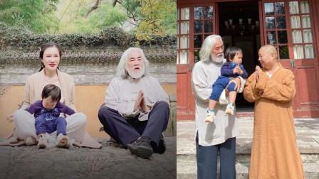杜星霖夫妇带娃出游幸福甜蜜,69岁张纪中全程抱娃爸爸力MAX