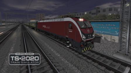 """外号""""大红枣""""HXD1D型电力机车 「模拟火车2020京哈线」"""