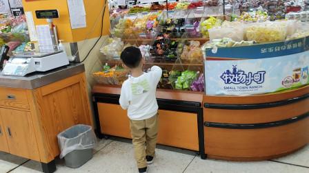 萌娃九江沃尔玛超市购物搞笑视频