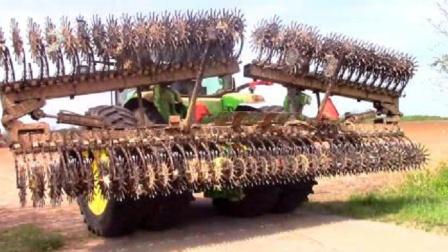 现在的农业机械越来越先进,搞得跟变形金刚一样,真霸气