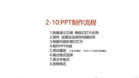 2-10:PPT制作流程