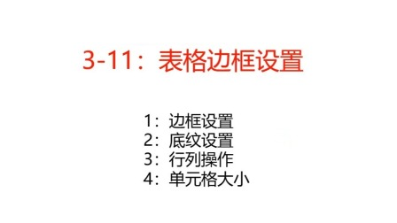 3-11:样式边框设置