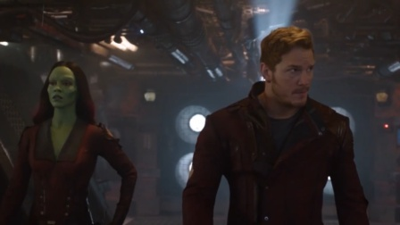 银河战士团队高燃打斗,小格鲁特太可爱了